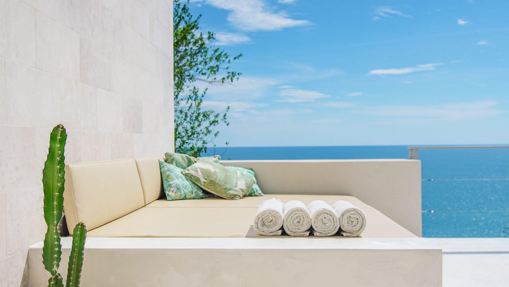 Villa Fugata Outdoor Lounge With Ocean View